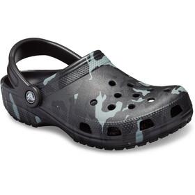 Crocs Classic Seasonal Graphic - Sandales - gris/noir